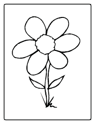 Free Flower Coloring Pages For Preschoolers Coloring Page Of Flower