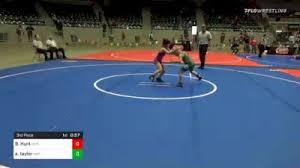 65 lbs Consolation - Ava Hopkins, RAW vs Avery Taylor, Brushy Wrestling Club