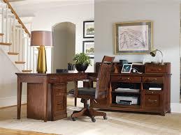 corner furniture piece. wendover 4 piece corner desk unit in cherry finish by hooker furniture hf103711484 r