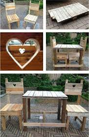 Garden furniture made of pallets – trendy outdoor furniture