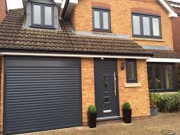 alluguard 77 remote roller door in anthracite grey