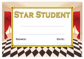 Star Student Certificates Star Student School Certificate