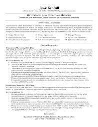 Banking Executive Sample Resume 6 Branch Manager Job Description