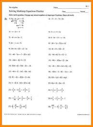 stunning multi step equations worksheet 8th grade gallery