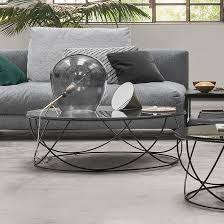 rolf benz ag. Rolf Benz Ag Contemporary Coffee Table / Glass Steel Round - 8770 By Annette Lang E