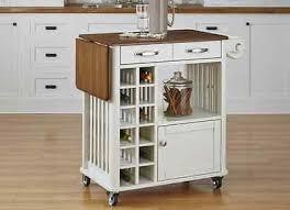 kitchen island cart white. Kitchen Island Cart White Mobile Wine Rack Storage Drawers Shelf Organizer With