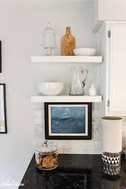 traditional contemporary kitchens. Easy To Install DIY Floating Shelves In Black And White Traditional  Contemporary Kitchen Refresh Kitchens E