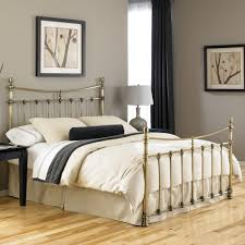 Metal Bed Bedroom Leighton Iron Bed In Antique Brass By Fashion Bed Group Humble Abode