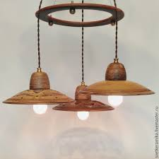 ceramic chandelier with three shades wind of change