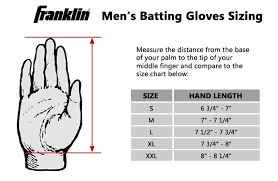 Batting Glove Size Chart Franklin Franklin Batting Glove Size Chart Batting Gloves Gloves