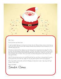 letter cartoon santa