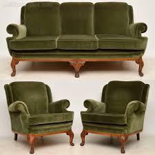 antique queen anne walnut sofa
