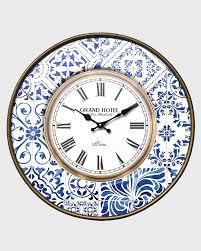 Orologio da parete shabby in stile marinaro bianco e blu - Mobili Rebecca