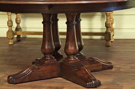pedestal table with 4 solid wood turned legs