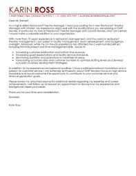 Best Restaurant Theatre Manager Cover Letter Examples
