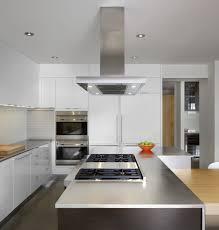 aluminium kitchen cabinet. Cabinet White Modern Laminated Polyethylene Flat Surface Door Kitchen Aluminium Hood Granite Stone Straight