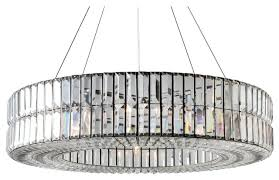 the monroe round clear crystal chandelier 2 tier