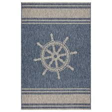 lr resources captiva navy gray 5 ft x 7 ft rectangle indoor