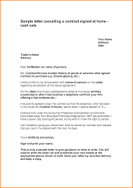 Letter Of Cancellation Of Contract From A Business Letter Idea 2018