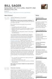 Internet Marketing Consultant Resume samples
