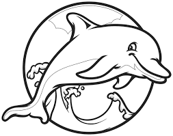 Small Picture Drawn dolphin colouring page Pencil and in color drawn dolphin