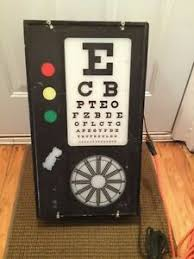 Vintage Eye Chart Light Box Details About Vintage Electric Lighted Eye Doctor Chart Test Optometrist Light With Switch Box
