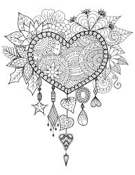 Books About Dream Catchers Heart Dreamcatcher Free Free Coloring Books 49