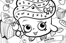 Shopkins Coloring Pages Ice Cream Cupcake Queen Coloring Pages