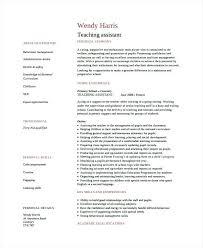 Sample Resume For Assistant Teacher Assistant Teacher Resume Sample