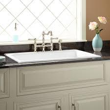 White Enamel Kitchen Sinks 36 Frattina Cast Iron Drop In Kitchen Sink Kitchen