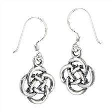 Drop Dangle Celtic Knot Weave <b>Endless</b> .<b>925 Sterling Silver</b> Braid ...