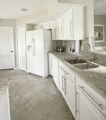 kitchen floor tiles with white cabinets. White Cabinets Gray Subway Tile Kashmir Granite Kitchen Floor Tiles With