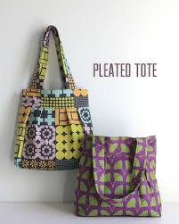 Free Tote Bag Patterns Delectable Pleated Tote Tutorial The Long Thread
