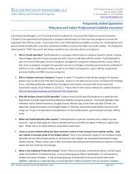 Business type:domestic limited liability company. Frequently Asked Questions Fiduciary And Labor Pages 1 4 Flip Pdf Download Fliphtml5