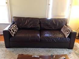 crate and barrel leather sofa crate barrels best ing axis ii leather 2 seat sofa 160000