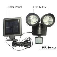 Zonne Energie Panel Led Straatverlichting Pir Motion Sensor