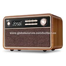 china retro wood clock radios with clock radios 5wx2 wood box with usb