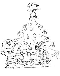 charlie brown christmas coloring page. Unique Page Charlie Brown Christmas Tree Coloring Page With Coloring Page B