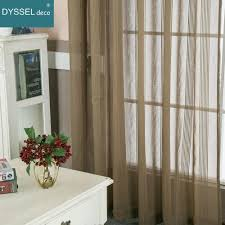 Curtain Rods Modern Design Modern Decorative Linen Striped Home Grey Sheer European Style Window Curtains Rod Pocket Grommet For Living Room Bedroom