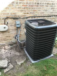 goodman ac unit. chicago, il - replacing a old carrier ac unit and furnace installing brand goodman