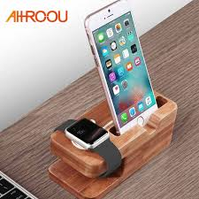 AHHROOU Wooden <b>Charging Dock</b> Station for Mobile Phone ...