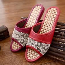 women s men s leather home slippers women summer house slippers men leather slippers lover s carpet floor slippers