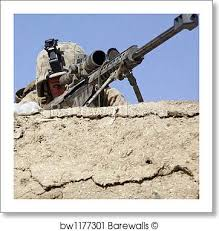 Marines Scout Sniper Requirements U S Marine Scout Sniper Provides Security Inside A Compound In Marjah Afghanistan By Stocktrek Images Art Print Poster