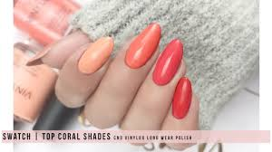 Swatch Top Coral Shades Cnd Vinylux Long Wear Polish