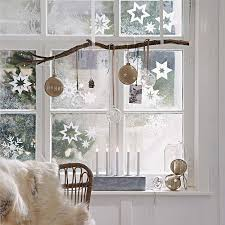 Branches Hanging In Front Of Window With Christmas Ornaments Do Add The  Extra Charm