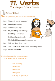 Good Grammar » Grade 3 Grammar Lesson 11 Verbs – the simple future ...