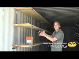 storage container shelves eagle leasing storage container shelves