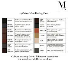 Microblading Pigment Permanent Make Up Ink 1ml Training Tattoo Brow