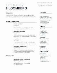 Resume Builder For College Students Awesome Canada Resume Template