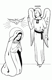 Small Picture Mary And The Angel Coloring Page Coloring Home